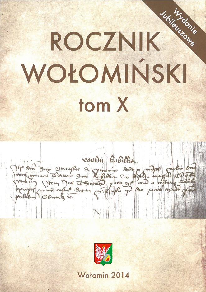 Rocznik Wołomiński - okładka tomu X